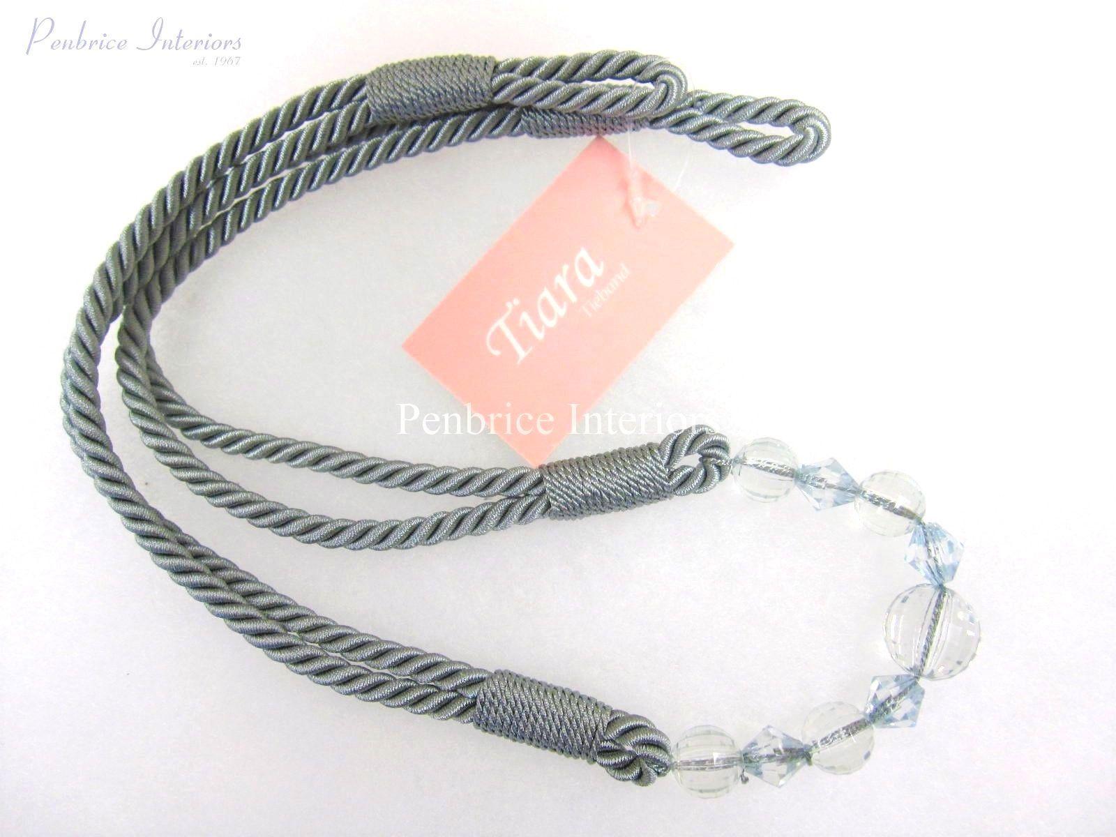 Tiara Curtain Rope Tieback - 78cm - Clear bead Style Tie Back 6 ...